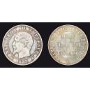 10 centimes 1854 / Monument érigé à la Bourse
